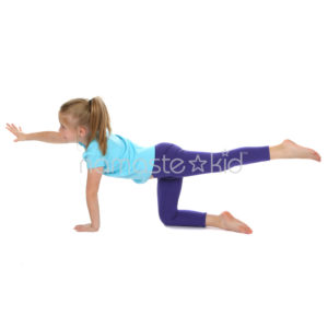 balancing table pose  yoga poses for kids classroom yoga