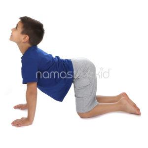 cow pose  kids' yoga poses yoga for classrooms  namaste kid