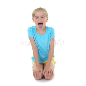 Lion's Breath Kids Yoga Pose