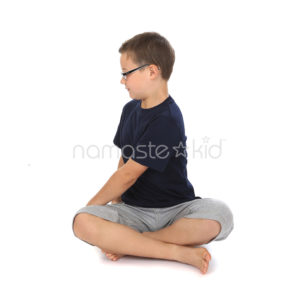 seated twist  kids' yoga poses yoga for classrooms