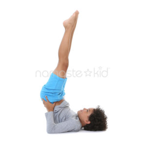 shoulderstand  kids' yoga poses yoga for classrooms
