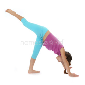 Three Legged Dog Kids Yoga Poses Yoga For Classrooms Namaste Kid