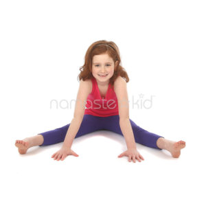 wide angle seated forward bend  kids' yoga poses yoga