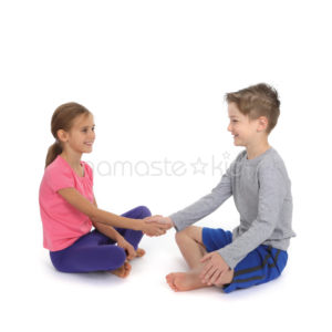 handshake challenge  kids' yoga poses yoga for
